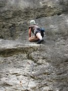 Rock Climbing Photo: Lower slabby section on What's Up