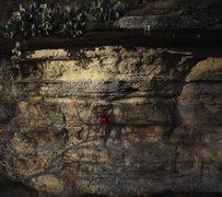 Rock Climbing Photo: Sticking the crux.  Video snapshot by media-texas....