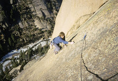 Rock Climbing Photo: Chip Wilson, somewhere around pitch 5. February 19...