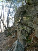 Rock Climbing Photo: The view as you approach the boulder from the Park...