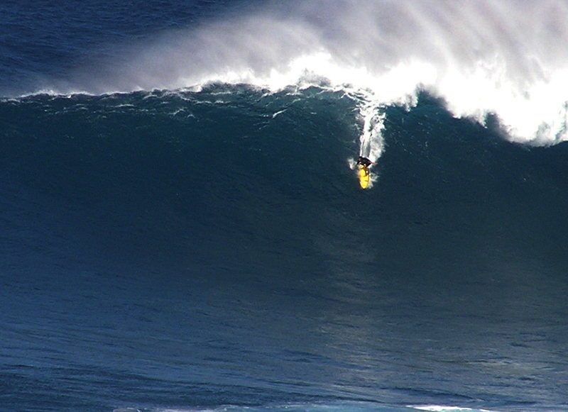 Kai Lenny @Peahi 12/31/12<br> Photo: Olaf Mitchell
