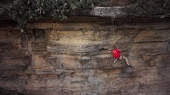 Rock Climbing Photo: Lowering off of Lonesome Dove.  Video snapshot by ...