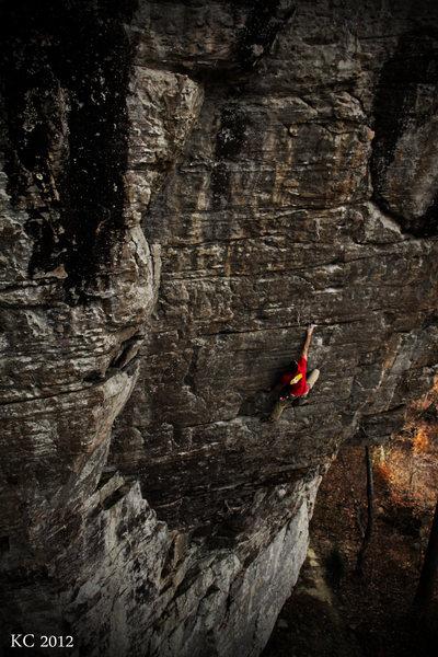 Rock Climbing Photo: The Show Me State 5.12b