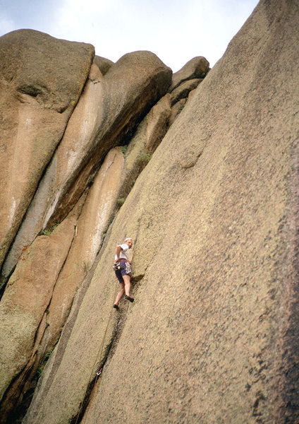 Rock Climbing Photo: Adge Last on Pow Wow Canal.