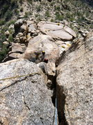 Rock Climbing Photo: Looking back on the Sundeck Boulder