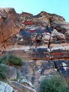 Rock Climbing Photo: Left side of Flight Path Area