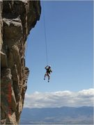 Rock Climbing Photo: Ken Turley lowering after the 1st and only ascent,...