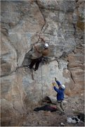 Rock Climbing Photo: Opening trad section of QED-MF