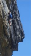 Rock Climbing Photo: Climber on QED-MF, Big Science & Scary Math to the...
