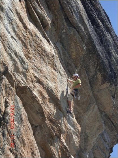Ken on the 1st ascent