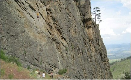 Rock Climbing Photo: Climbers at the base of Pie