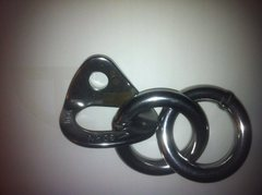 Rock Climbing Photo: double ring anchor