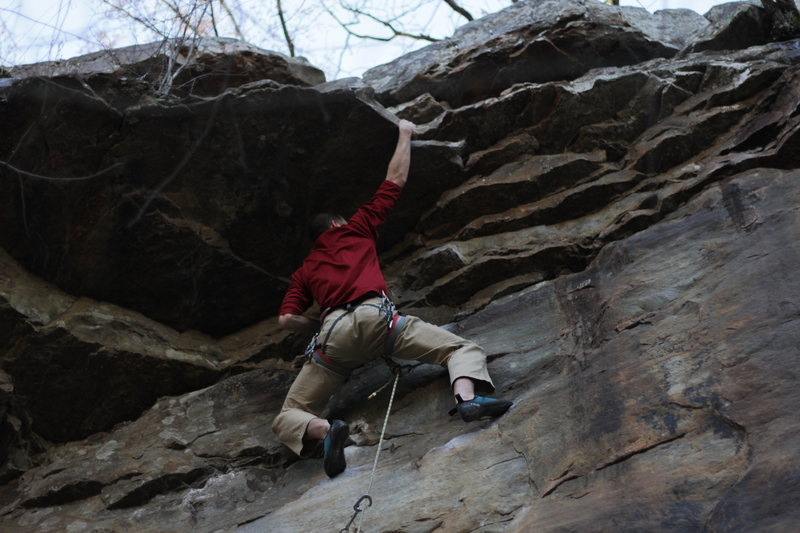 Rock Climbing Photo: Pulling the roof