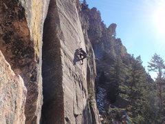 Rock Climbing Photo: Nate on Chockstone.