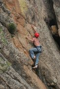 Rock Climbing Photo: The first attempt at the crux. To  the right of wh...