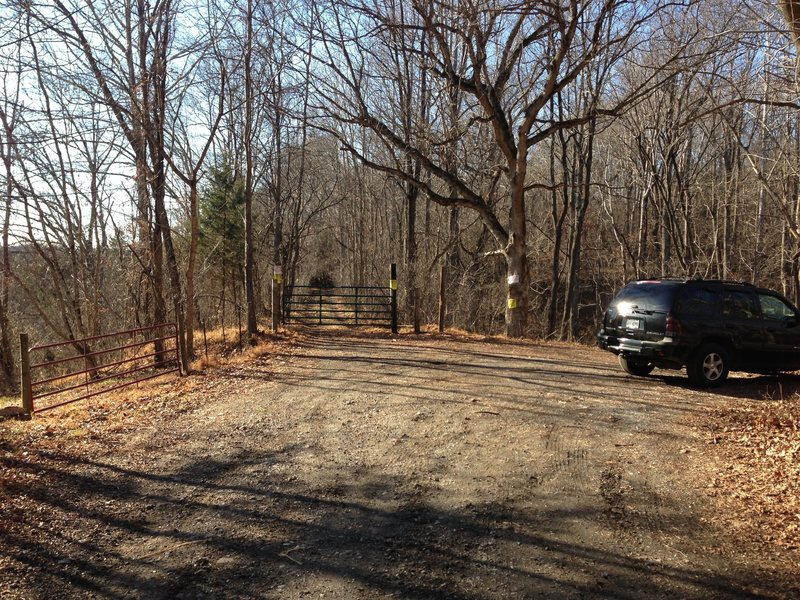 UPDATE: Here's what the parking area looks like now (as of Jan 4, 2013). Compared to the other beta photos submitted for the parking area, you can see there is now a gate where the old service road is with a bunch of no trespassing signs posted all around.