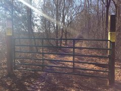 Rock Climbing Photo: Here's a close-up of the new gate with the no tres...