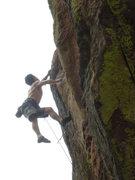 Rock Climbing Photo: The upper crux.