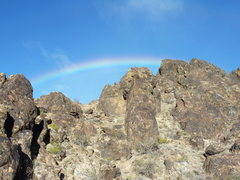 Rock Climbing Photo: Rainbow at New Jack City