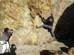 Rock Climbing Photo: Fun bouldering at the bottom of the arete