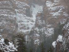 Rock Climbing Photo: Hidden Falls early January, 2013.