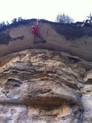 Rock Climbing Photo: iPhone photo.  Clipping the chains of Lonesome Dov...