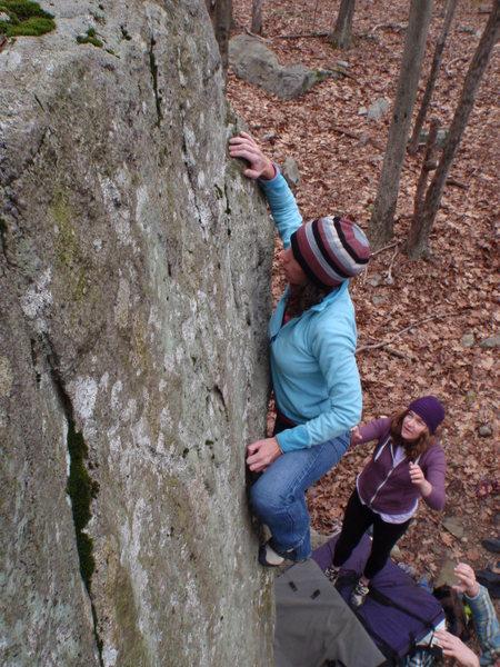 Rock Climbing Photo: Tracie on Velociraptor
