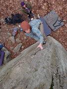 Rock Climbing Photo: Steven on a V2