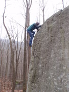 Rock Climbing Photo: Tracie topping out