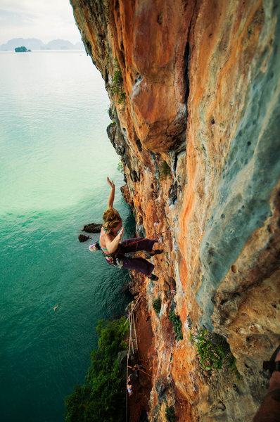 Rock Climbing Photo: Aaaaand taking the whip!!