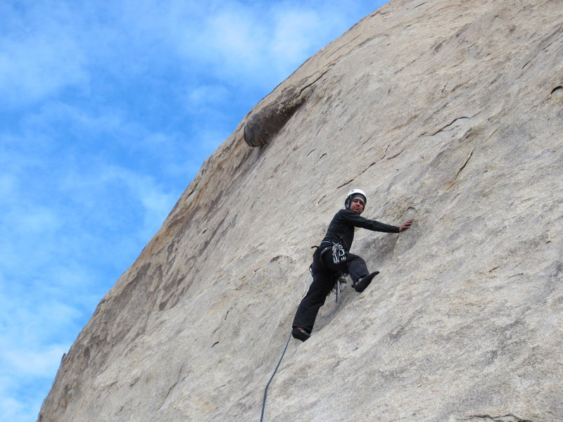 Rock Climbing Photo: Beth leading pitch 1 after I backed off the lead. ...