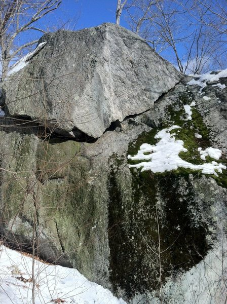 Rock Climbing Photo: The route follows the undercling diagonally up and...