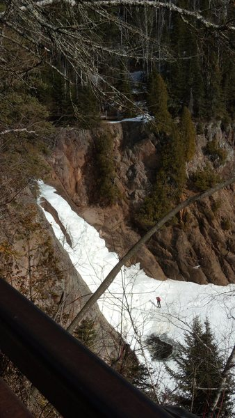 me at the bottom of the High Fall's,Tettegouche,State Park,MN.