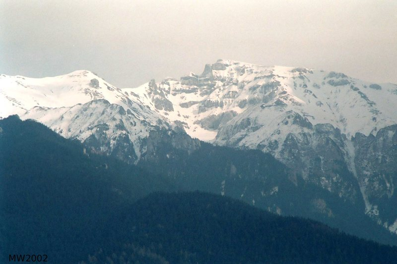 Bucegi Mountains from the east side (Bran)<br> Photo M.Whelan