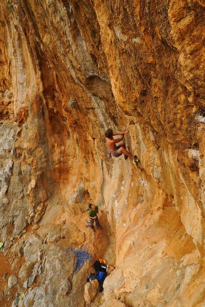 Kalymnos. Fire wall 7B+