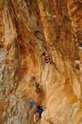 Rock Climbing Photo: Kalymnos. Fire wall 7B+
