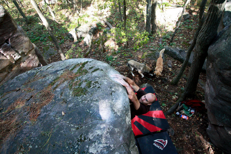 "Rock Climbing Photo: Mike Lohre on ""Another Mike's Mix Slope Opera..."