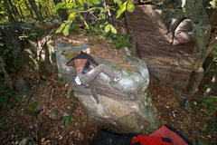 "Rock Climbing Photo: Chris Keller topping out ""Another Mike's Mix ..."