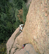 Rock Climbing Photo: Warpath, pitch 2. First ascent, October 1988. Stra...