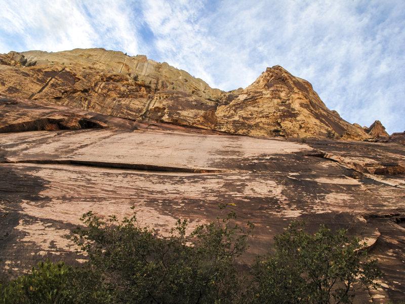 Rock Climbing Photo: Slippery Peak Apron