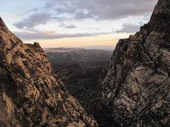 Rock Climbing Photo: Looking down Oak Creek Canyon.