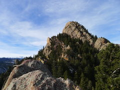 Rock Climbing Photo: Shirt Tail from top of Rewritten.