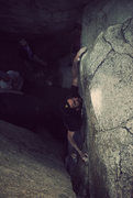 Rock Climbing Photo: Kevin Riley on the First Ascent of Lost and Losing...