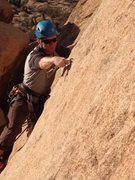 Rock Climbing Photo: leading in indian cove
