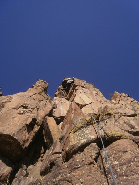 Rock Climbing Photo: Last move to the anchor.