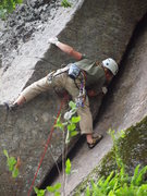 Rock Climbing Photo: Mitch Hoffman scopes out pro where the going gets ...