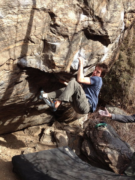 Rock Climbing Photo: Getting into the heel-hook.