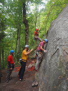 Rock Climbing Photo: Keith Meister sizing up the 5.10 variation start w...