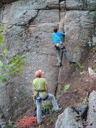 Rock Climbing Photo: Jeremy Haas setting out on Norman's Crack of Joy w...