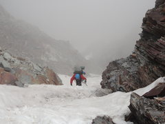 Rock Climbing Photo: Climbing the col up from the ABC